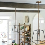 DIY Modern Rustic Wood Beams In The Kitchen