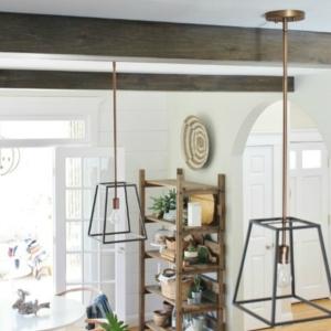 DIY Modern Rustic Wood Beams In The Kitchen
