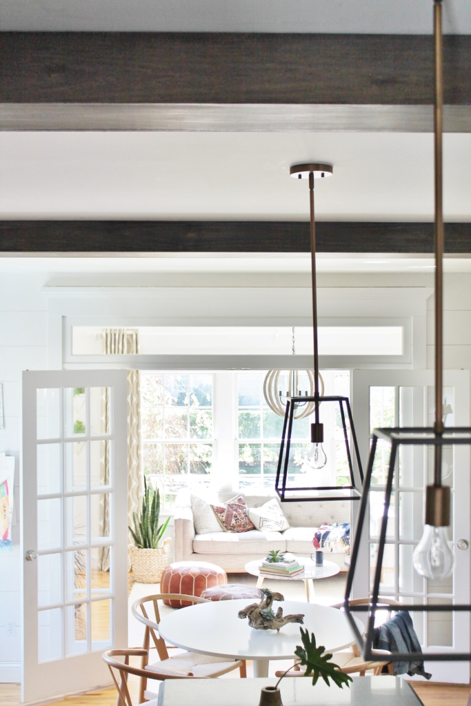 Image of: Diy Modern Rustic Wood Beams In The Kitchen City Farmhouse