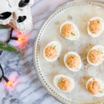 Halloween Hors D'oeuvre: Pumpkin Deviled Eggs