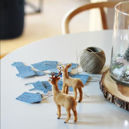 DIY Denim Cookie Cutter Ornaments
