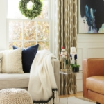 Navy + Blush Christmas Family Room Tour