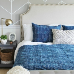 Master Bedroom Makeover-Mixing It Up With Indigo