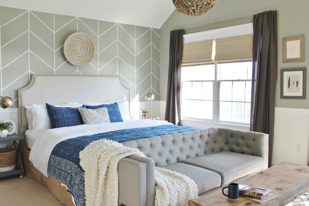 Master Bedroom Window Makeover-Bringing the outside in with natural shades from LEVOLOR-Island Breeze