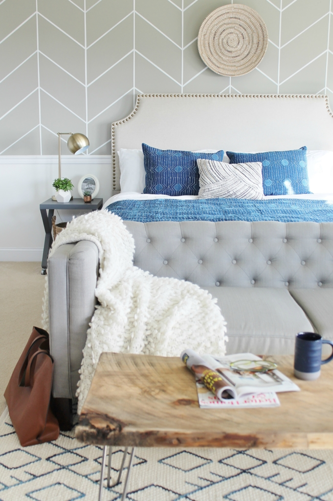 Master Bedroom Makeover Mixing It Up With Indigo City