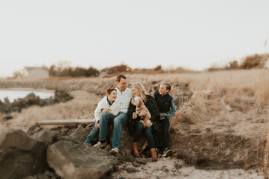 Happy Holidays From The Beach: Our Family Photoshoot