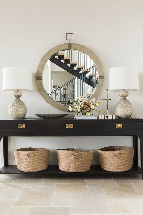 The best large round mirrors why every house needs one for Sofa interiors studio city