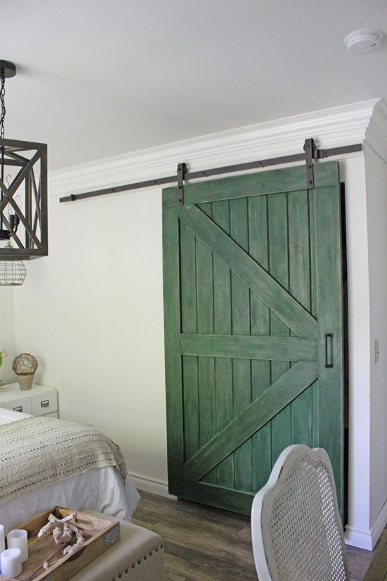Green DIY Barn Door:Honey Comb Home