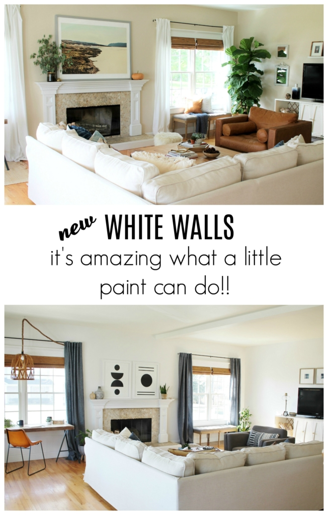 Details On My Family Room Paint Curtains Art More