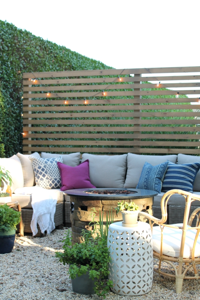 Modern Wood Slatted Outdoor Privacy Screen Details On How To Build