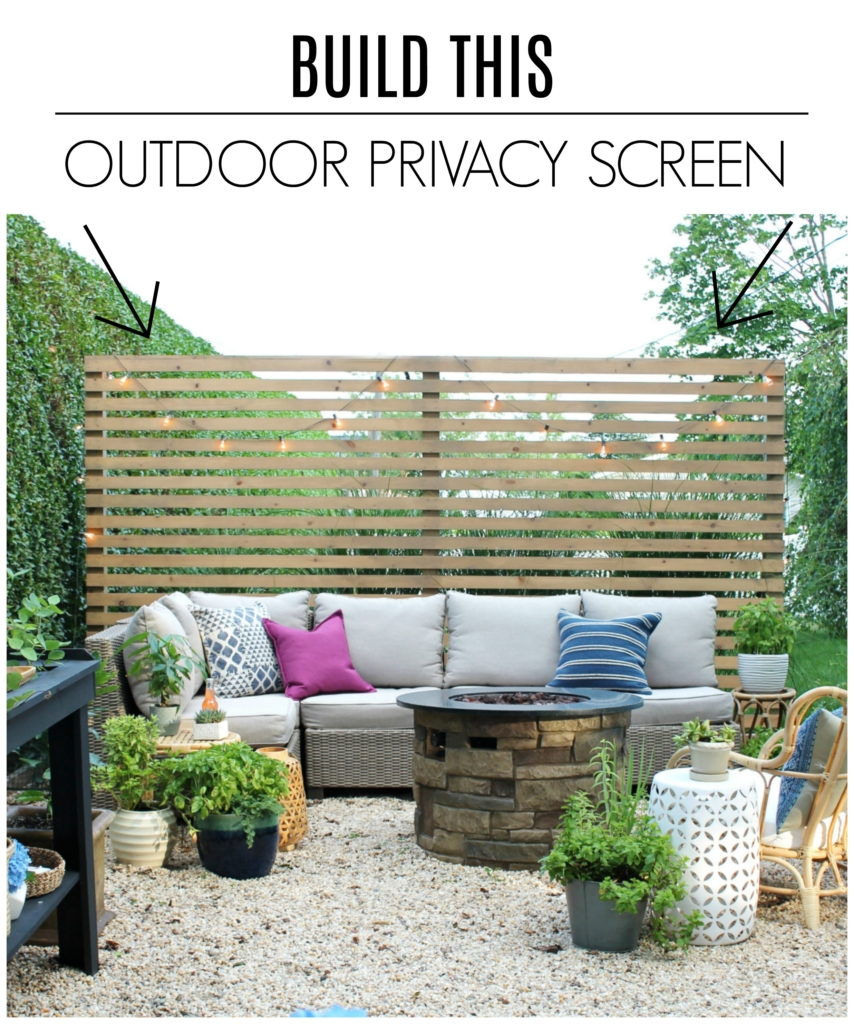 Modern Wood Slatted Outdoor Privacy Screen: Details On How