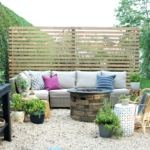 Modern Wood Slatted Outdoor Privacy Screen: Details On How To Build