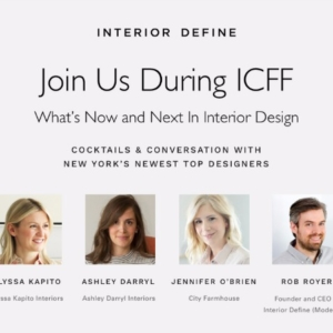 Come Join Me In NYC-What's Now + Next In Interior Design