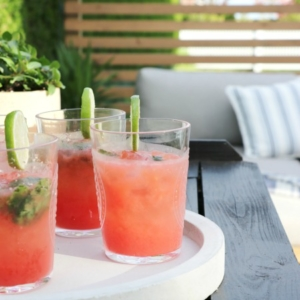The Best Skinny Watermelon Mojitos + Simple Summer Tablescape