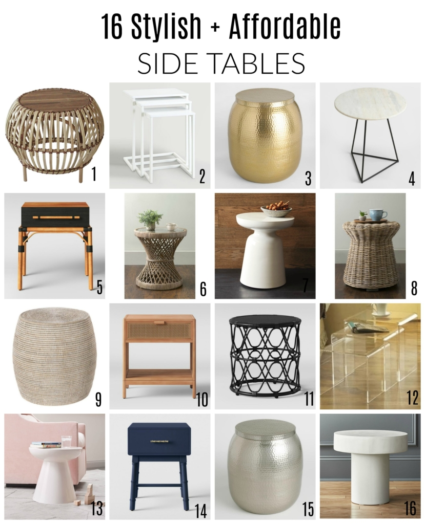 16 Stylish And Affordable Side Tables
