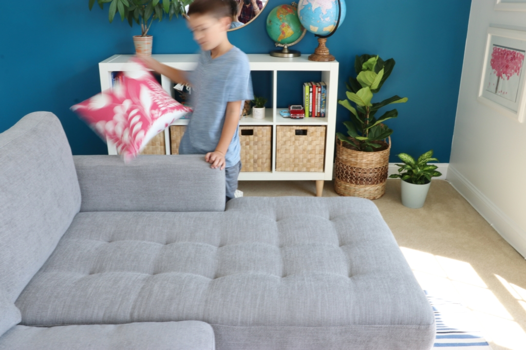Our New Modern Sofa Bed Updates In The Playroom
