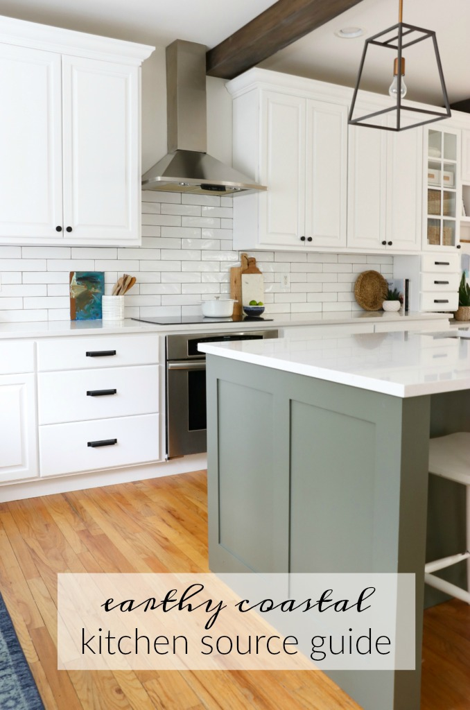 Earthy Coastal White Kitchen Complete Source Guide
