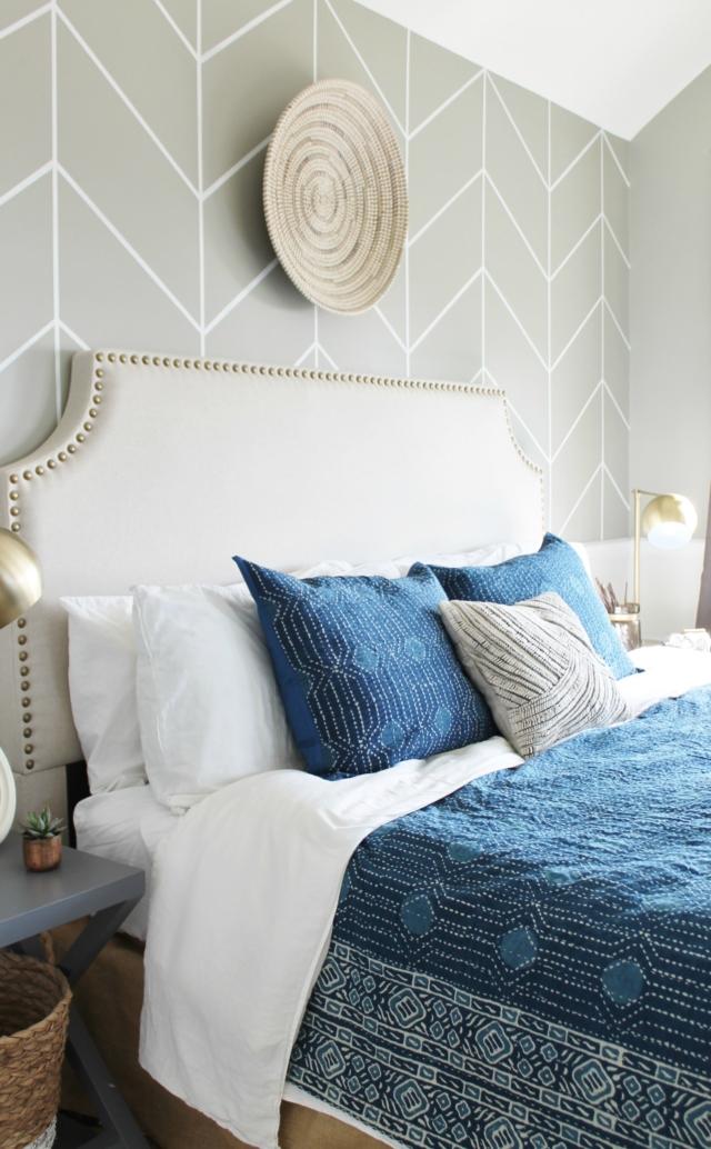 Decoración costera y relajada en el dormitorio
