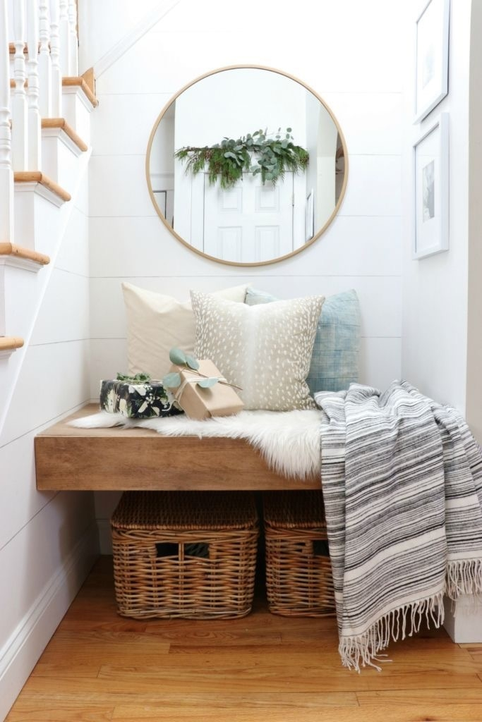 DIY Built In Bench Under Stairs-City Farmhouse Home Tour