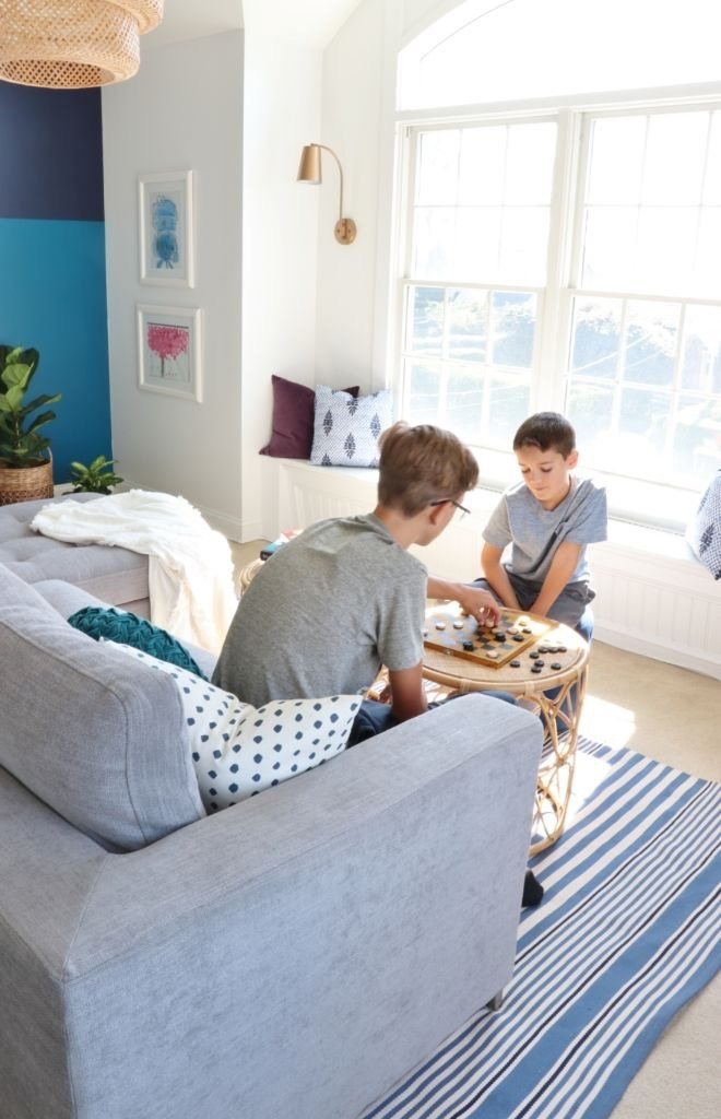 Modern Bold Kids Playroom & Guest Room