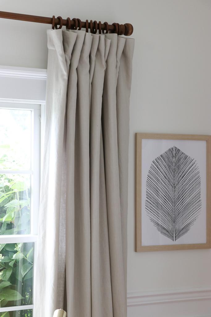 Barn & Willow Flat Panel Belgian Linen Drapes in Light Gray