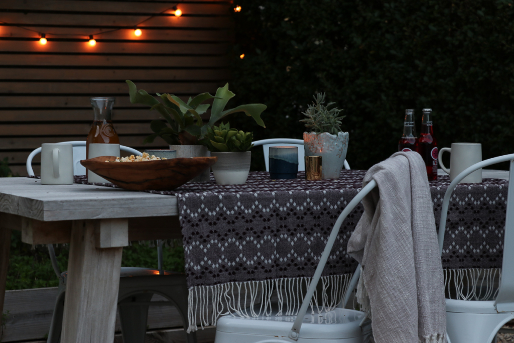 Outdoor Lighting, fall table