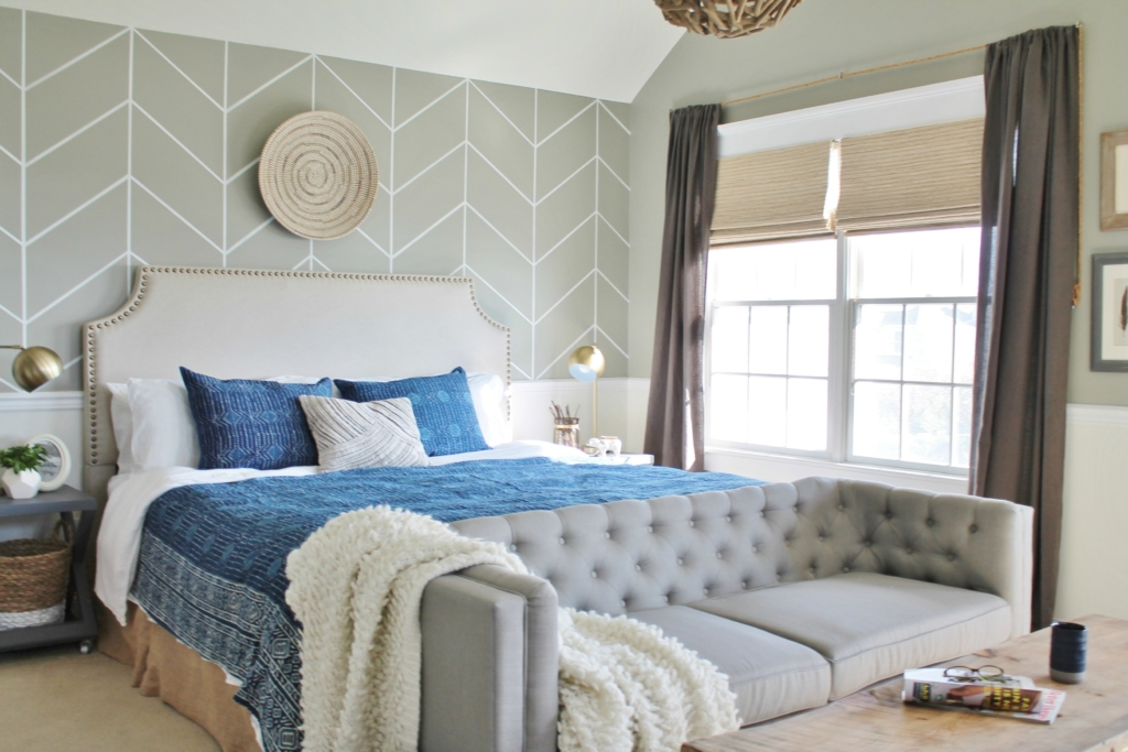 casual hamptons master bedroom revealthe look for less