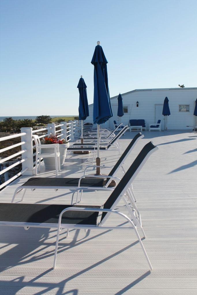 Upper deck at the Ocean Resort Westhampton.