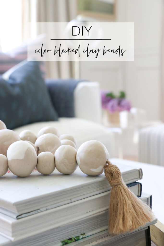 DIY color blocked beads