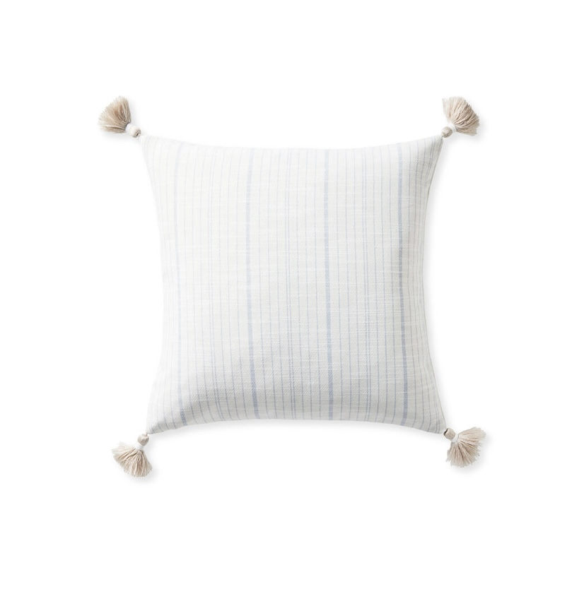 """Serena & Lily 2-20"""" Surf Stripe Pillow Cover + Insert."""