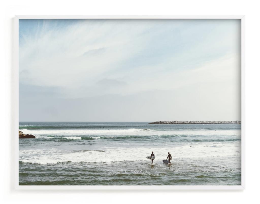 Minted Surf Print, Ventura
